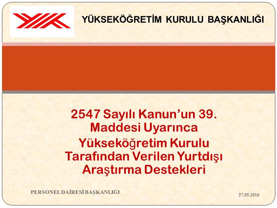 2547 Sayılı Kanun'un 39.