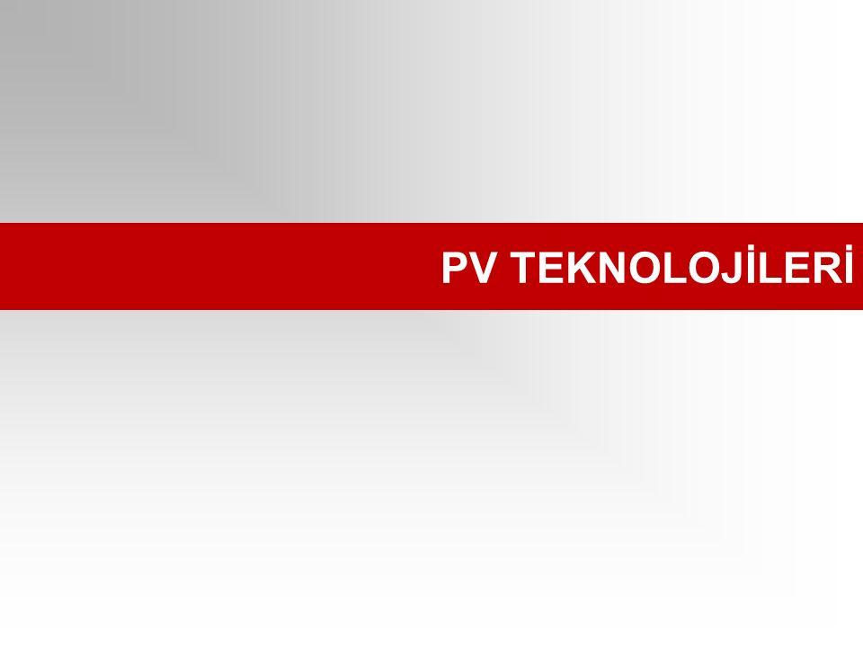 PV TEKNOLOJİLERİ