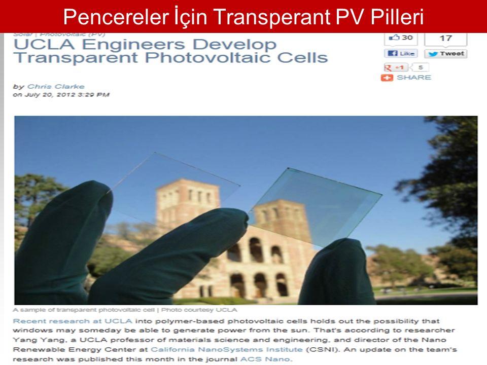 Pencereler İçin Transperant PV Pilleri