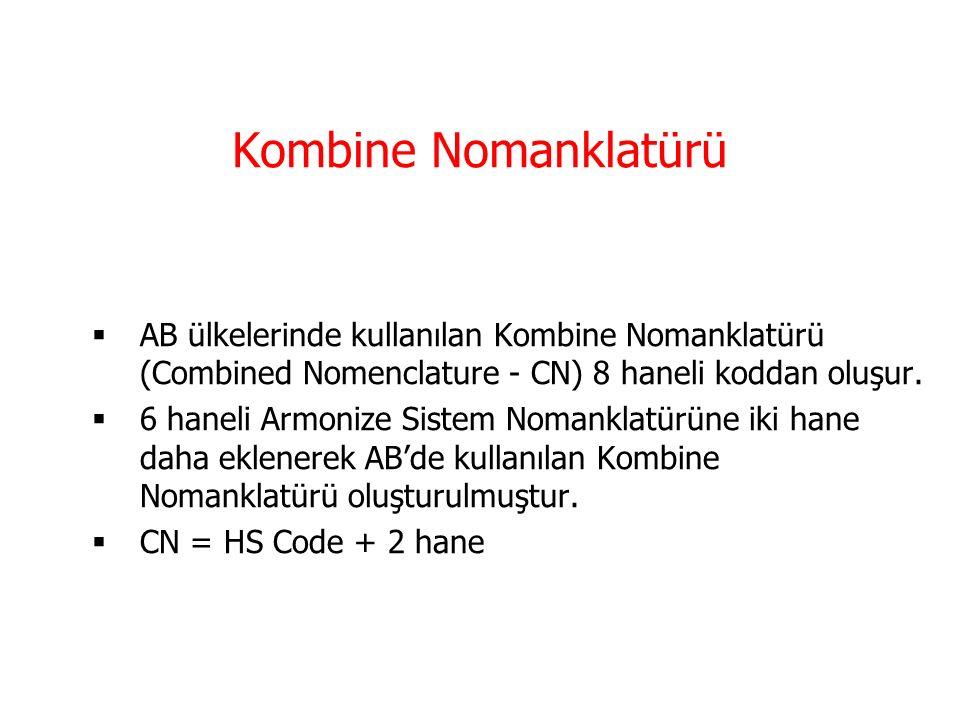 Armonize Sistem Kodlaması  Armonize Mal Tanımı ve Kodlama Sistemi (The Harmonized Commodity Descripton and Coding Sytems) olarak ta bilinen armonize sistem 6 haneli koddan oluşur.