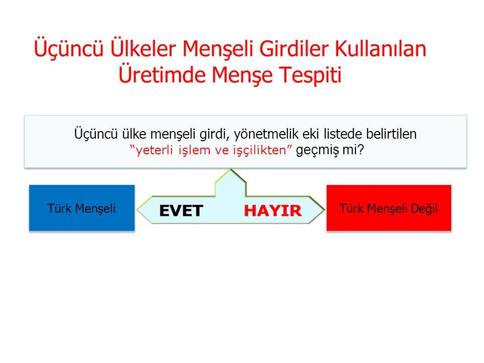 Türkiye PAAMK Eşya Ticareti Anlaşmaya taraf ülke eşyasının yanı sıra Türkiye'de yapılan işlem ve işçilik, yetersiz işlem ve işçiliğin ötesinde mi.