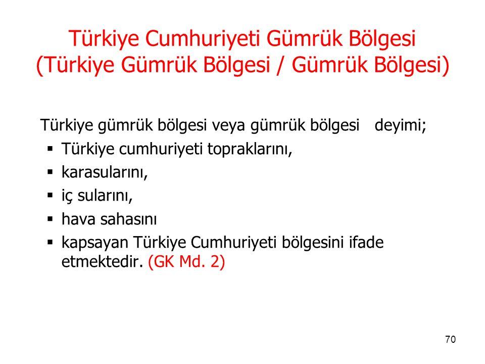 69 Amaç  Bu Kanunun amacı, Türkiye Cumhuriyeti Gümrük Bölgesine giren ve çıkan eşyaya ve taşıt araçlarına uygulanacak gümrük kurallarını belirlemektir.