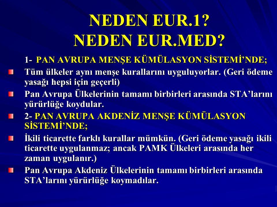 NEDEN EUR.1. NEDEN EUR.MED.