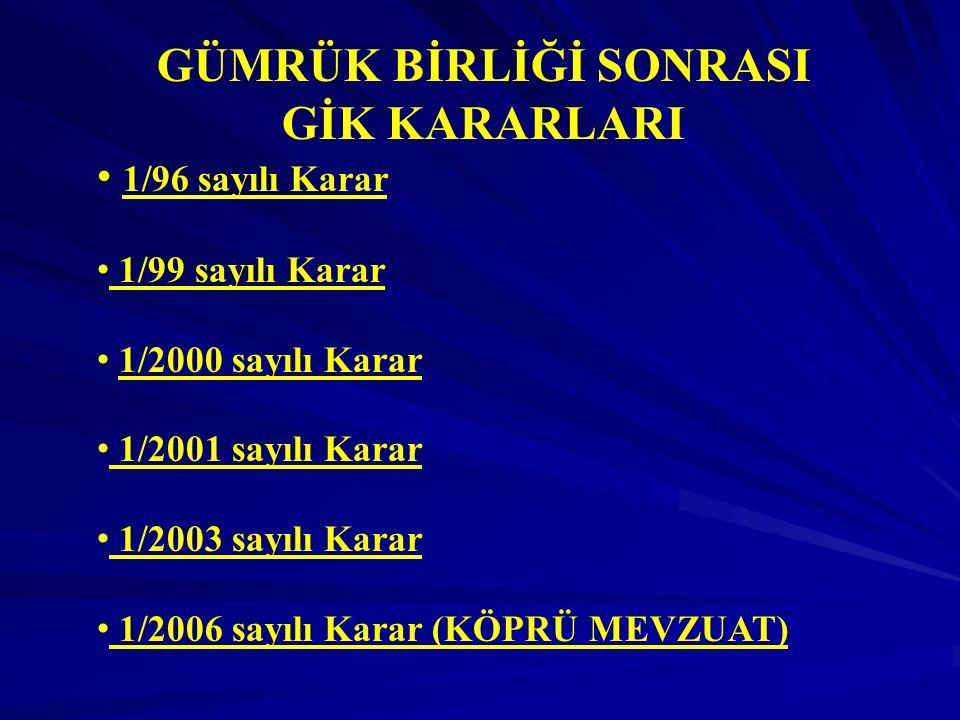 Gümrük Kanununda Eşyanın Tercihli Menşei Madde 22: Eşyanın tercihli menşei, - Türkiye'nin bazı ülke veya ülke grupları ile yaptığı tercihli bir tarife uygulamasını gerektiren anlaşmalarda yer alan tercihli tarife uygulamasından faydalanan eşya için söz konusu anlaşma ile - Türkiye tarafından tek taraflı olarak bazı ülkeler, ülke grupları veya toprak parçaları için tanınan tercihli tarife uygulamasından faydalanan eşya için Bakanlar Kurulu Kararı ile belirlenir.
