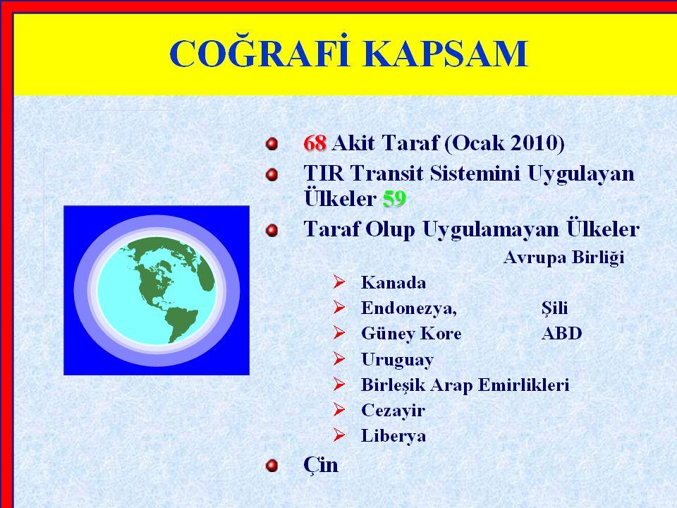 1) Her karayolu taşıtı veya konteyner için bir TIR karnesi düzenlenir.