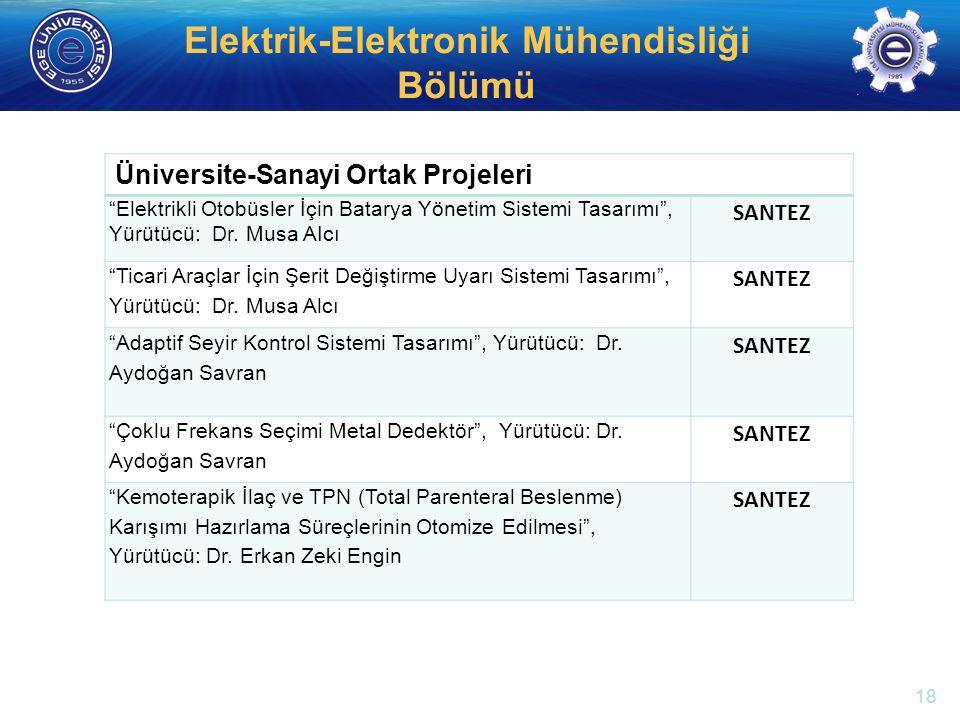 """http://electronics.ege.edu.tr Elektrik-Elektronik Mühendisliği Bölümü Üniversite-Sanayi Ortak Projeleri """"Elektrikli Otobüsler İçin Batarya Yönetim Sis"""