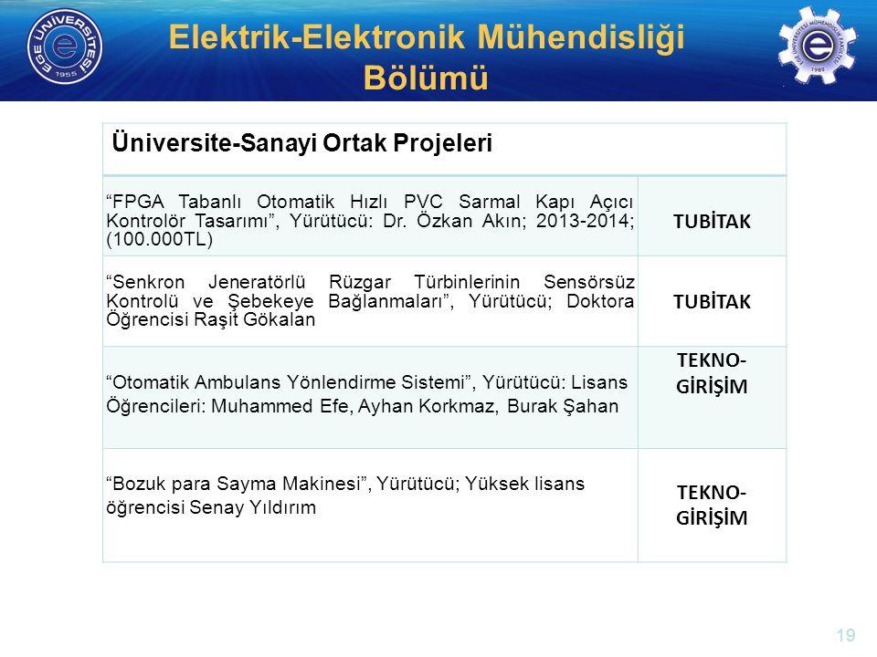 """http://electronics.ege.edu.tr Elektrik-Elektronik Mühendisliği Bölümü Üniversite-Sanayi Ortak Projeleri """"FPGA Tabanlı Otomatik Hızlı PVC Sarmal Kapı A"""