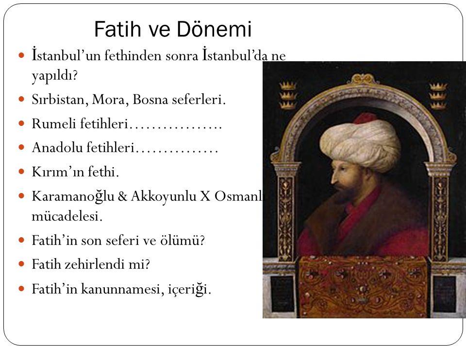 Konstantinepolis'in Fethi mi. Tarihte İ stanbul ku ş atmaları.