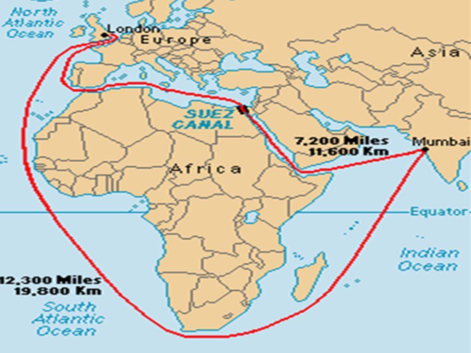 2)Süvey ş Kanalı Projesi Tarihte ilk olarak 1869 da açılabilecek olan Süvey ş Kanalının çok daha öncelerden Osmanlı Devleti tarafından açılmak istendi ğ ini görmekteyiz.