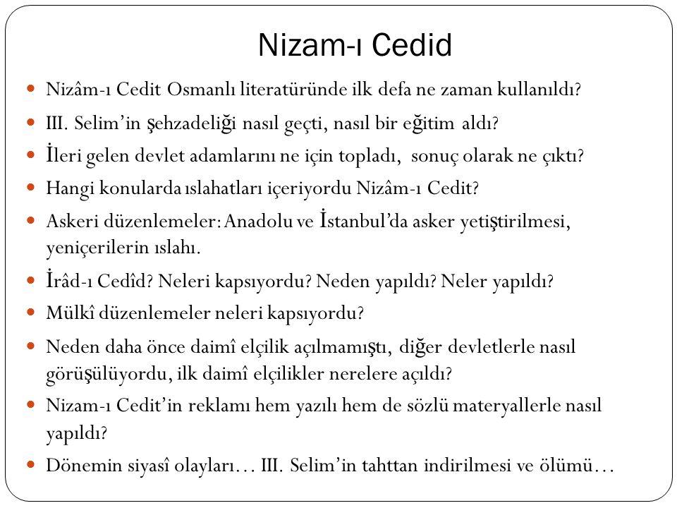 XVIII. Yüzyıl Islahatları Islahat ihtiyacı neden do ğ ar? Osmanlı'da neden do ğ mu ş tur? 17. yy.'da yapılan de ğ i ş iklikler, aynî ekonomiden nakdî