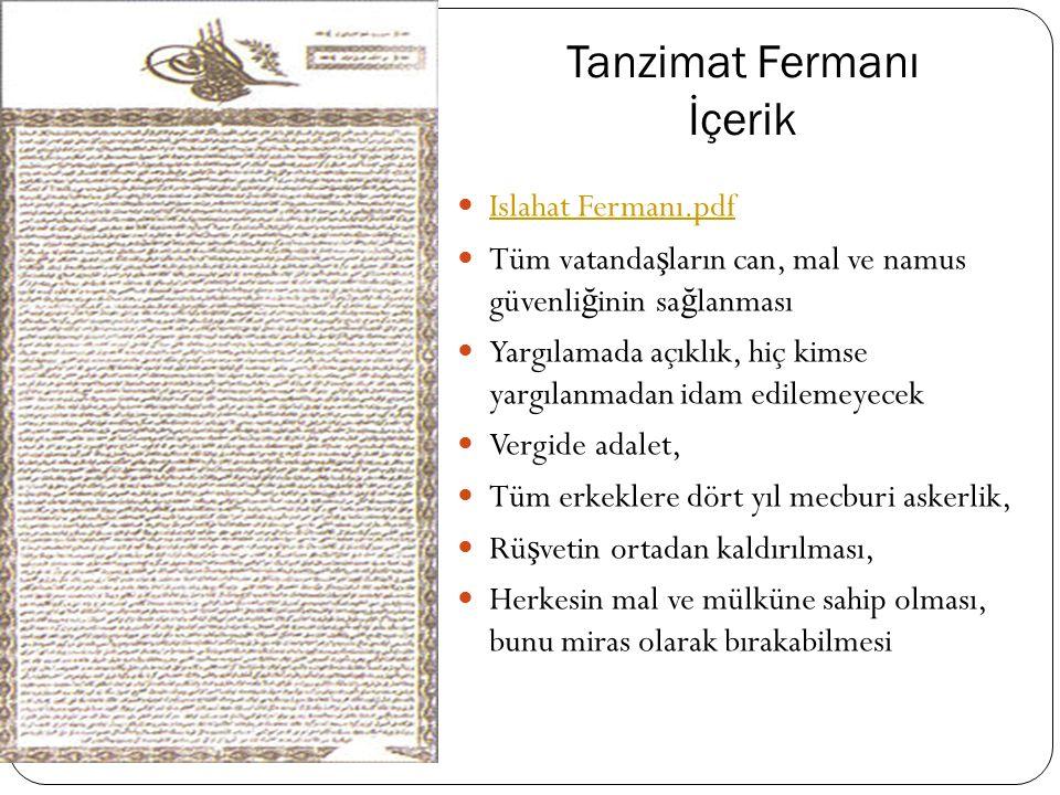 """1836 Tanzimat """"II. Mahmud dönemi asıl tanzimâtın ba ş langıcıdır."""" Ali Akyıldız. Tanzimâtı anlamak için tarihî bakı ş açısı gereklidir. İ ki esas gaye"""