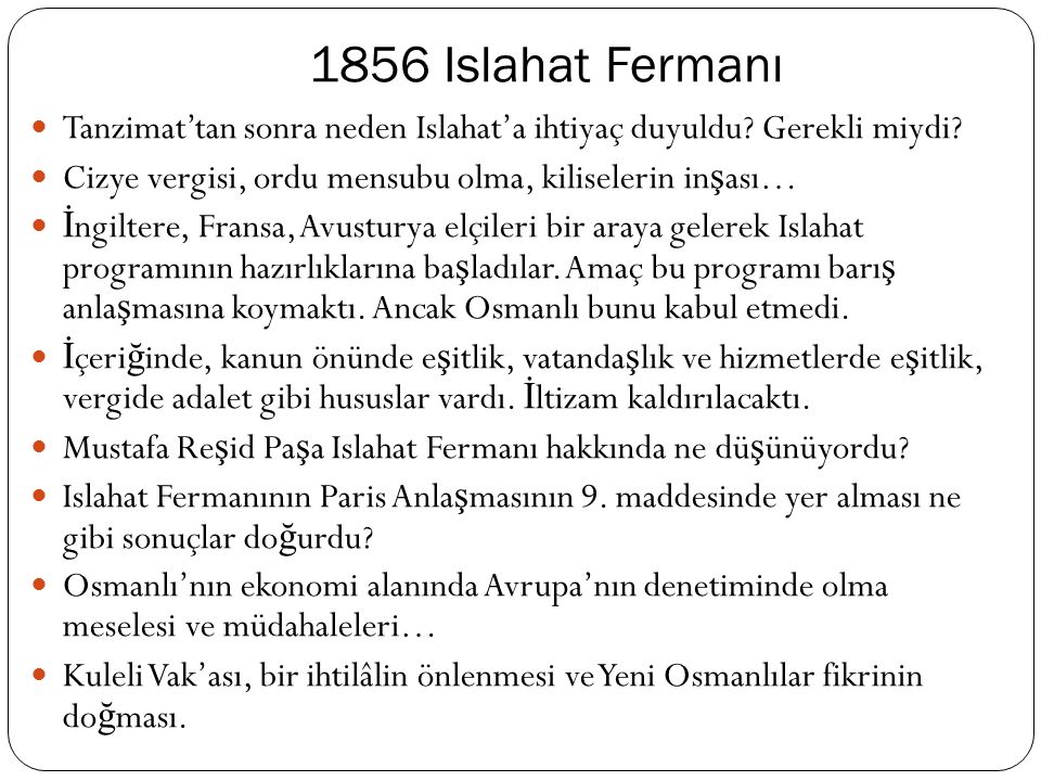 1855 Kırım Harbi Macar, Polonyalı ve Eflaklıların Ruslara kar ş ı ayaklanıp, ba ş aramayınca Osmanlı'ya sı ğ ınmaları… 1848 ihtilallerinden dolayı İ ngiltere ile Rusya'nın arası bozuktu.
