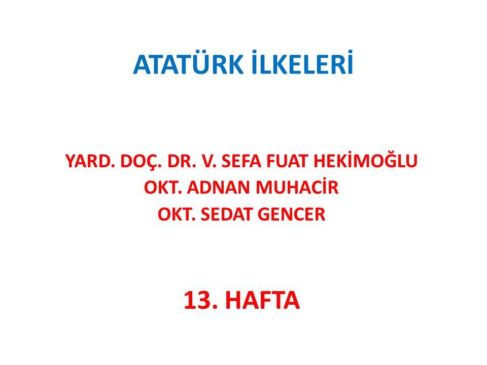 ➠ Halifeliğin Kaldırılması (3 Mart 1924) ➠ Türk Kadınına Siyasî Haklar Verilmesi (1930-1933- 1934) ➠ Siyasî Partilerin Kurulması (Çok Partili Hayata Geçiş Denemeleri) ➠ Ordu – Siyaset Ayrımı İçin Yapılan Çalışmalar ➠ Seçmen Yaşının Düşürülmesi