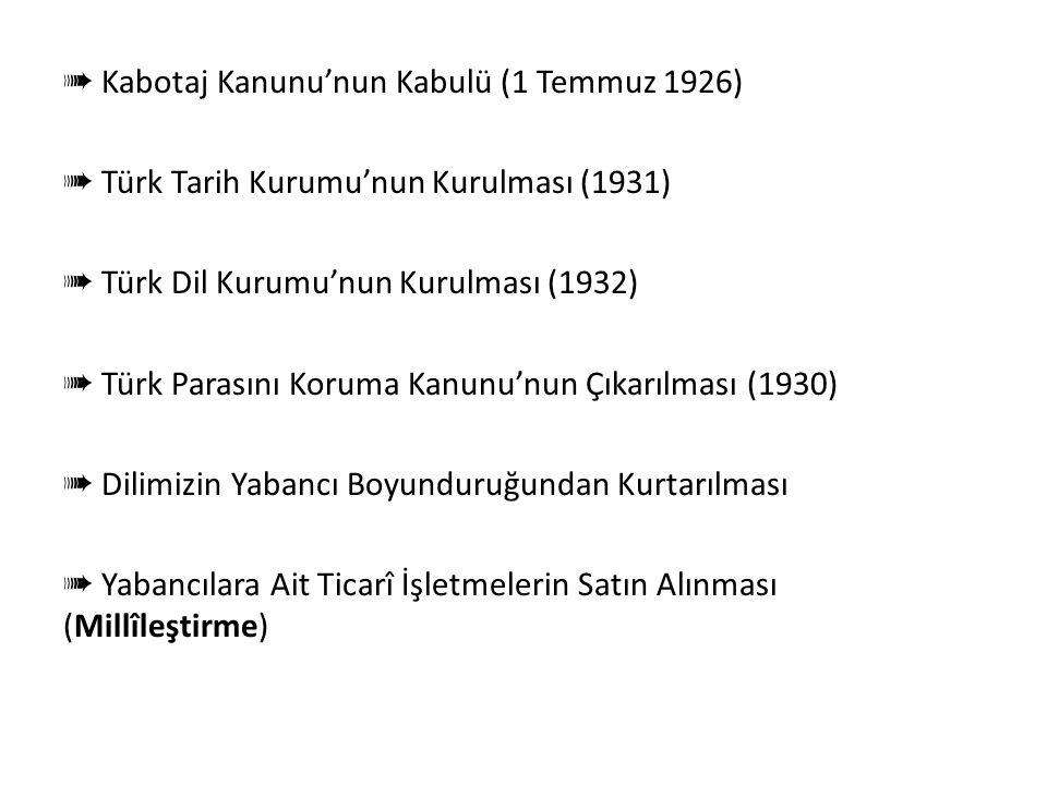 Milliyetçilik Doğrultusunda Yapılan İnkılâplar ➠ TBMM'nin Açılması (23 Nisan 1920) ➠ Misak-ı Millî'nin Kabulü (28 Ocak 1920) ➠ İstiklâl Marşı'nın Kabu