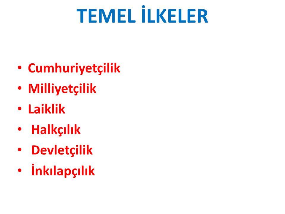 a)Tam Bağımsızlık: Tam bağımsızlık, Atatürk'ün ve Atatürkçülüğün en önemli esaslarından biridir.