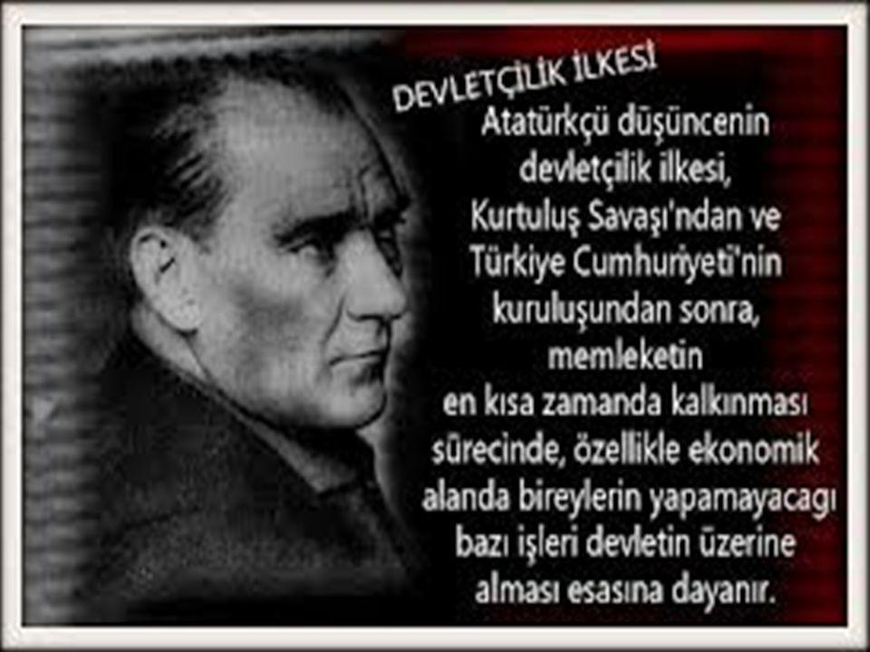 Devletçilik yabancı sermayeye de karşı değildir. Türkiye'de devletçilik modeli, 1927'de çıkarılan Teşvik-i Sanayi Kanunu'nun başarısız olması nedeniyl