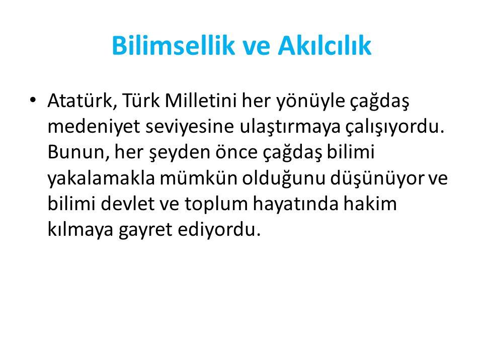 Atatürk, Türk Milletinin insani değerlerin hüküm sürdüğü bir atmosferde yaşamasını istiyordu. Bu ise ancak bütün dünyada barışın hakim olmasıyla mümkü