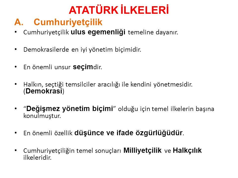 ➠ Kabotaj Kanunu'nun Kabulü (1 Temmuz 1926) ➠ Türk Tarih Kurumu'nun Kurulması (1931) ➠ Türk Dil Kurumu'nun Kurulması (1932) ➠ Türk Parasını Koruma Kanunu'nun Çıkarılması (1930) ➠ Dilimizin Yabancı Boyunduruğundan Kurtarılması ➠ Yabancılara Ait Ticarî İşletmelerin Satın Alınması (Millîleştirme)