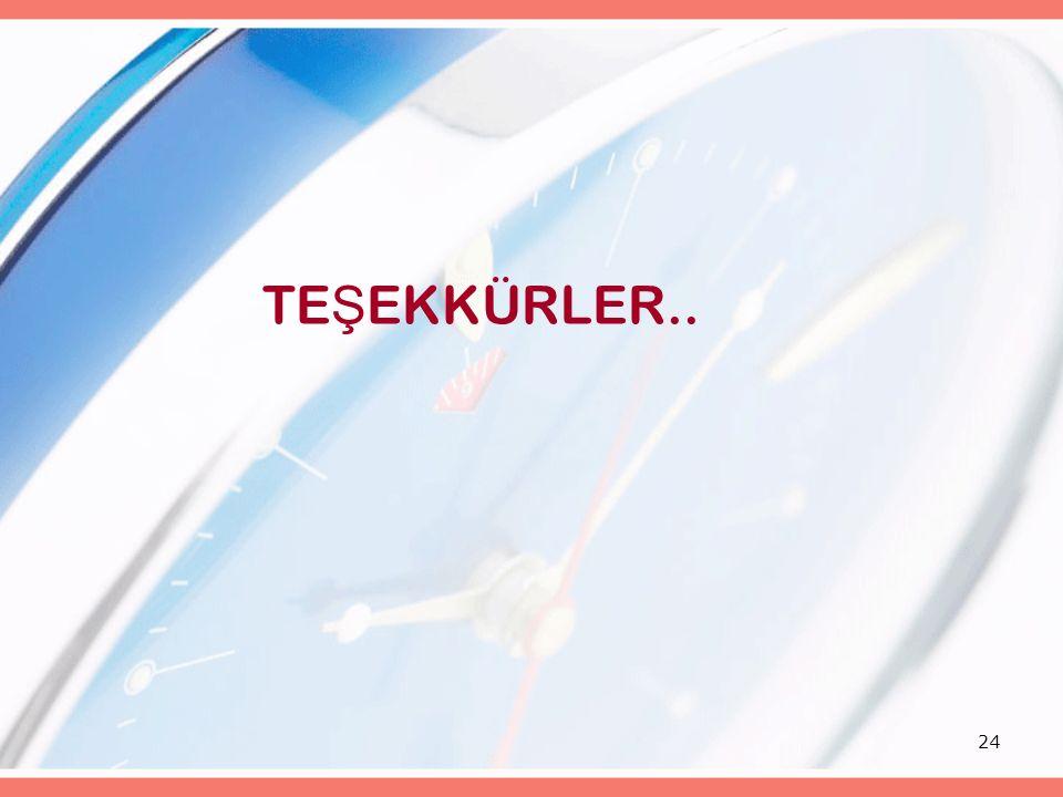 24 TE Ş EKKÜRLER..