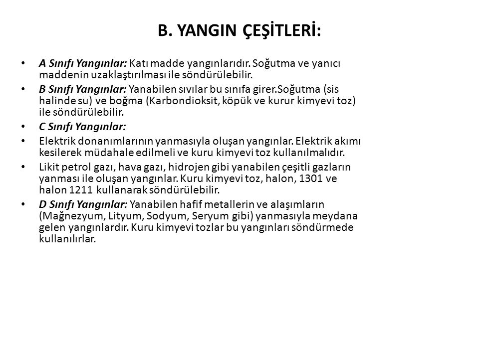 YANGIN SÖNDÜRÜCÜNÜN BÖLÜMLERİ 1.