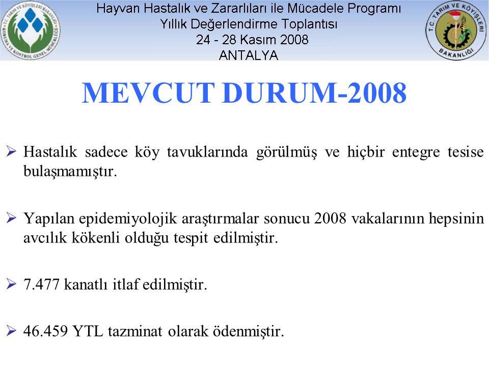 MEVCUT DURUM-2008