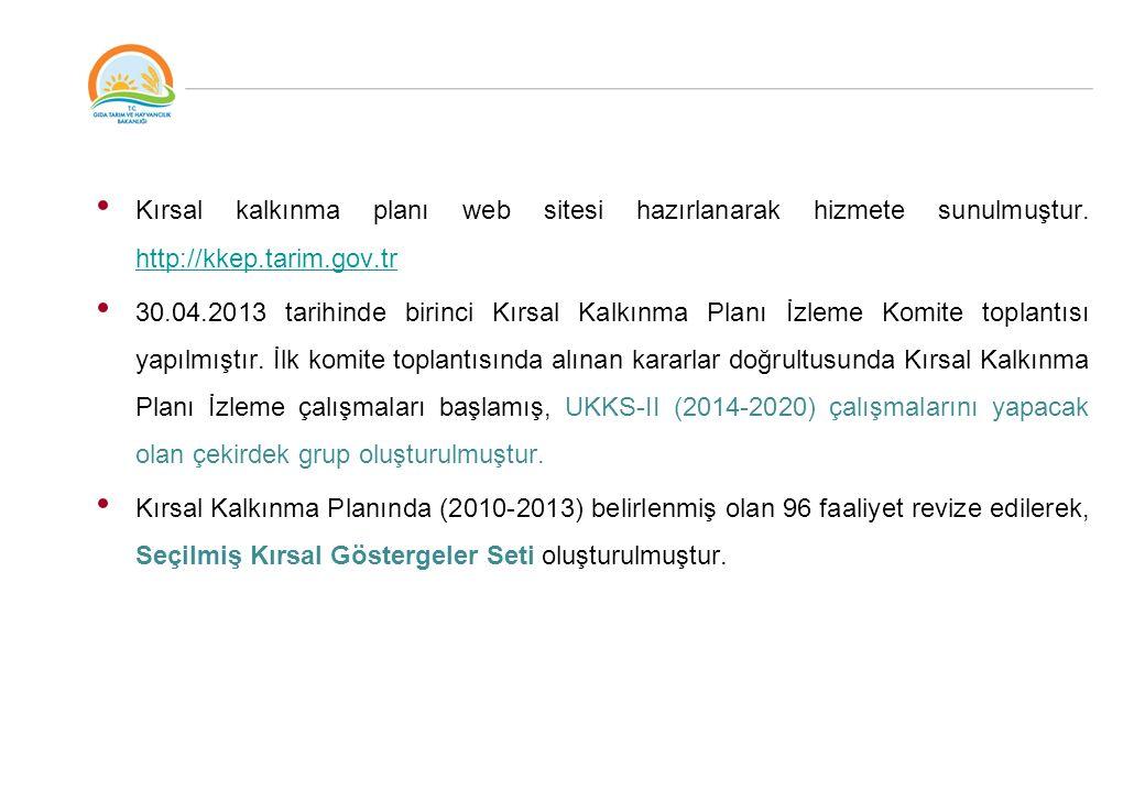 Kırsal kalkınma planı web sitesi hazırlanarak hizmete sunulmuştur.