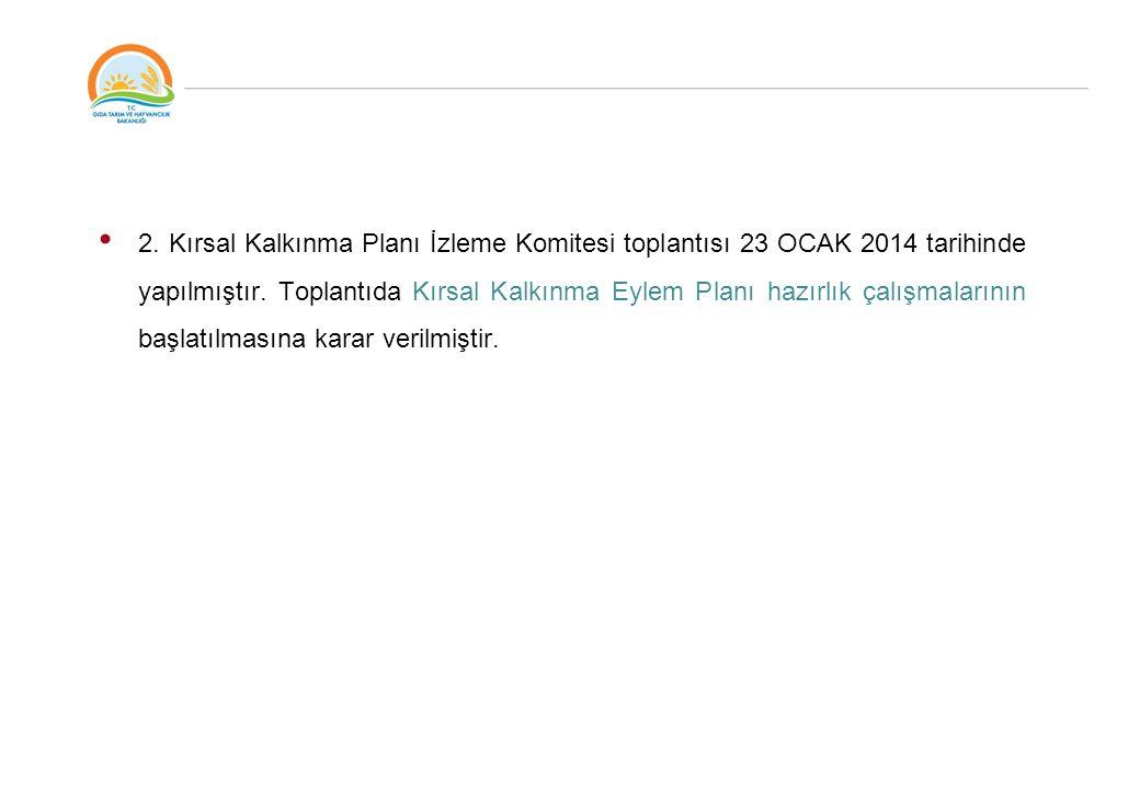 2. Kırsal Kalkınma Planı İzleme Komitesi toplantısı 23 OCAK 2014 tarihinde yapılmıştır.