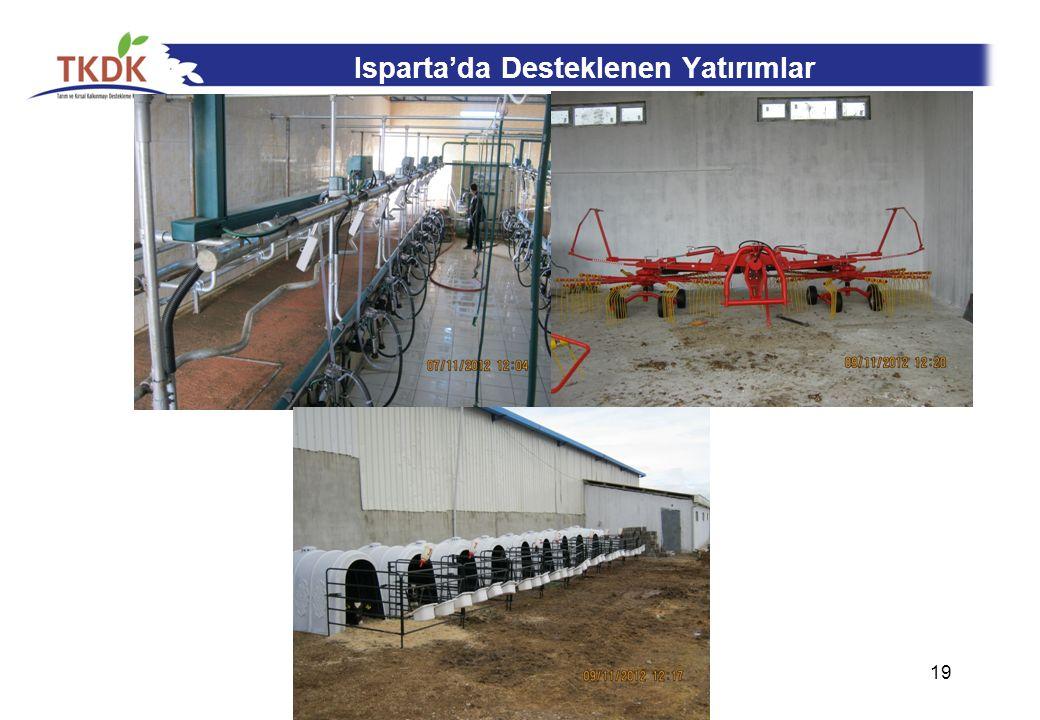 Isparta'da Desteklenen Yatırımlar 19