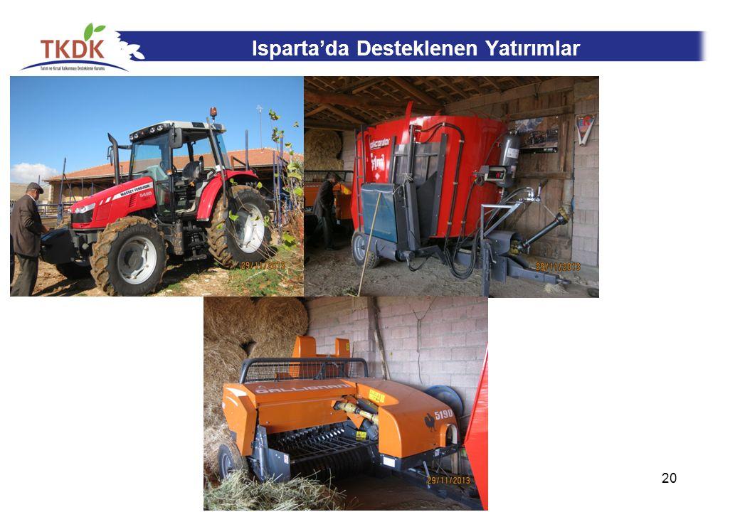 Isparta'da Desteklenen Yatırımlar 20