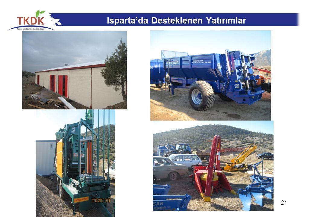 Isparta'da Desteklenen Yatırımlar 21