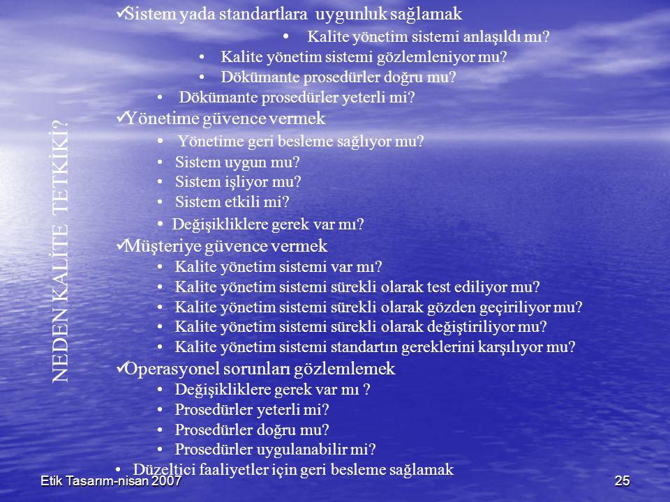 Etik Tasarım-nisan 200725 NEDEN KALİTE TETKİKİ.