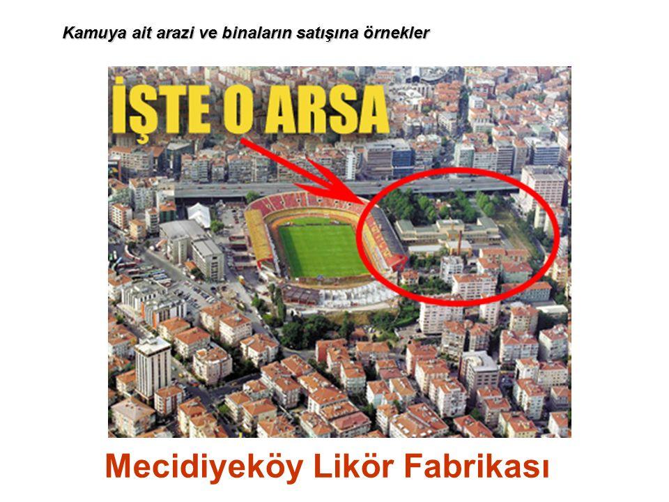 Mecidiyeköy Likör Fabrikası Kamuya ait arazi ve binaların satışına örnekler