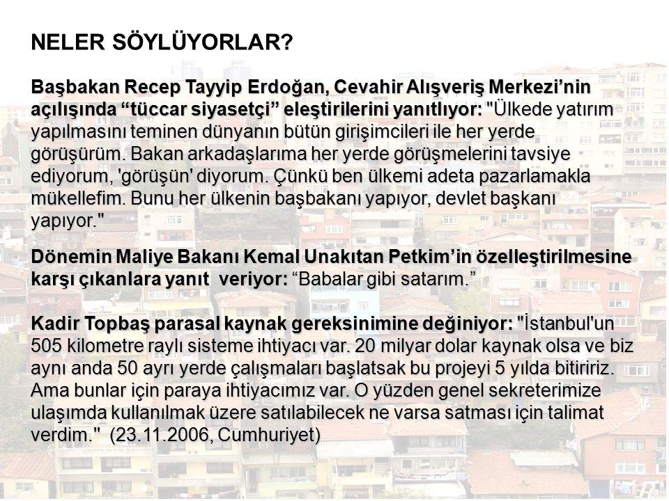 Başbakan Recep Tayyip Erdoğan, Cevahir Alışveriş Merkezi'nin açılışında tüccar siyasetçi eleştirilerini yanıtlıyor: Ülkede yatırım yapılmasını teminen dünyanın bütün girişimcileri ile her yerde görüşürüm.