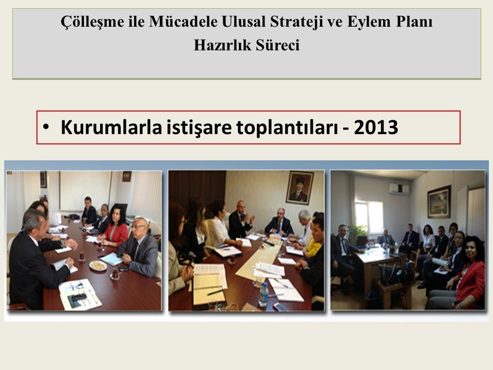 Kurumlarla istişare toplantıları - 2013 Çölleşme ile Mücadele Ulusal Strateji ve Eylem Planı Hazırlık Süreci Çölleşme ile Mücadele Ulusal Strateji ve