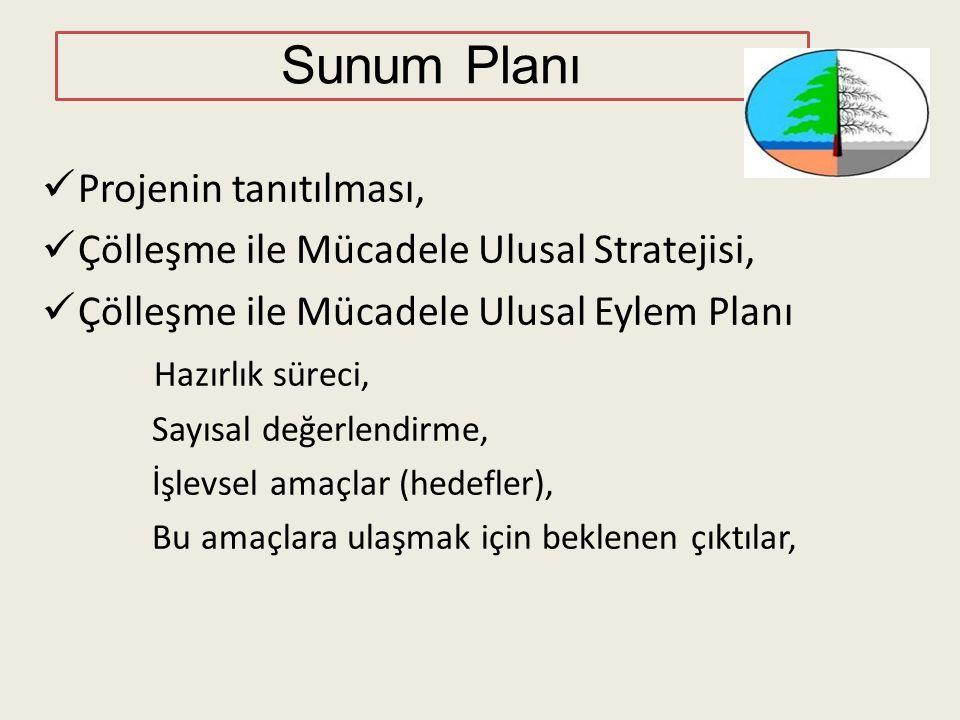 Kurumlarla istişare toplantıları - 2013 Çölleşme ile Mücadele Ulusal Strateji ve Eylem Planı Hazırlık Süreci Çölleşme ile Mücadele Ulusal Strateji ve Eylem Planı Hazırlık Süreci