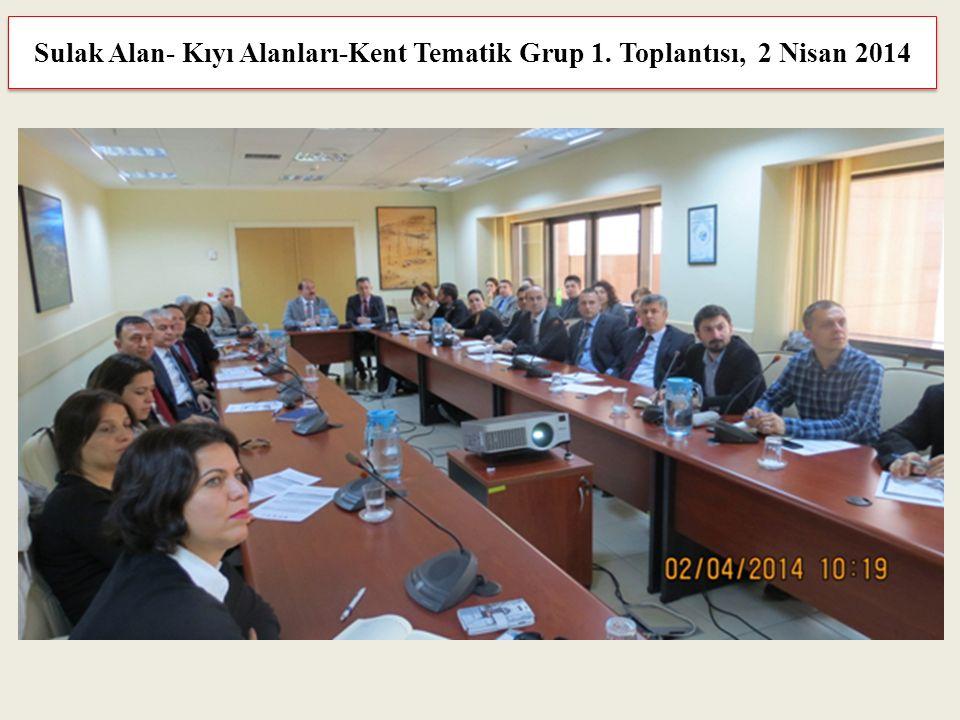 Sulak Alan- Kıyı Alanları-Kent Tematik Grup 1. Toplantısı, 2 Nisan 2014