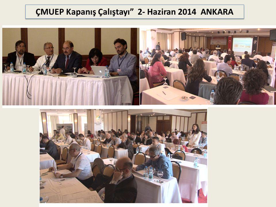 ÇMUEP Kapanış Çalıştayı 2- Haziran 2014 ANKARA