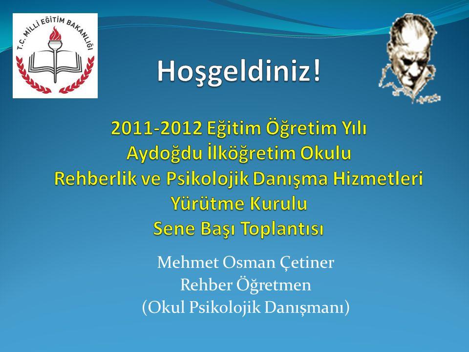 Mehmet Osman Çetiner Rehber Öğretmen (Okul Psikolojik Danışmanı)