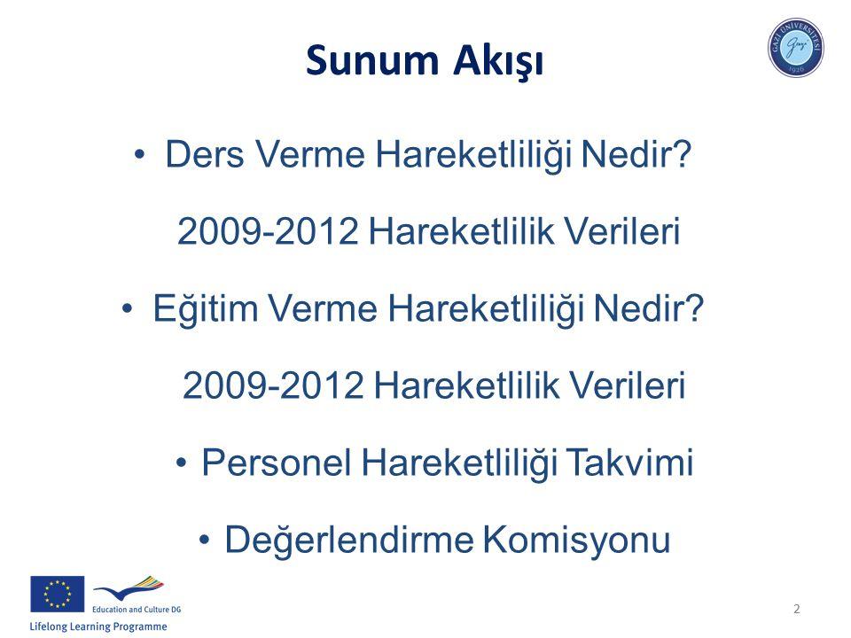 33 Erasmus Personel Hareketliliği faaliyeti kendi içerisinde 2 alt faaliyete ayrılmaktadır.