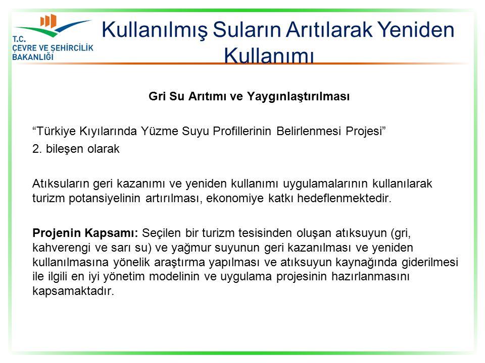 Gri Su Arıtımı ve Yaygınlaştırılması Türkiye Kıyılarında Yüzme Suyu Profillerinin Belirlenmesi Projesi 2.