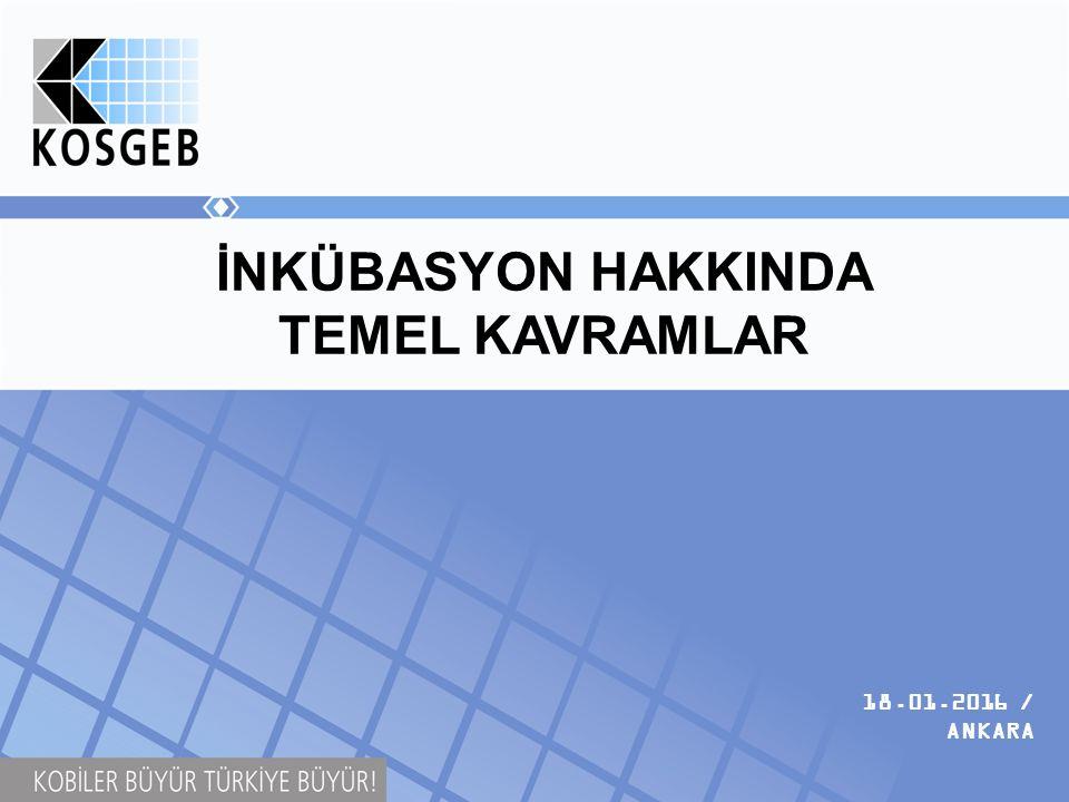 İNKÜBASYON HAKKINDA TEMEL KAVRAMLAR 18.01.2016 / ANKARA