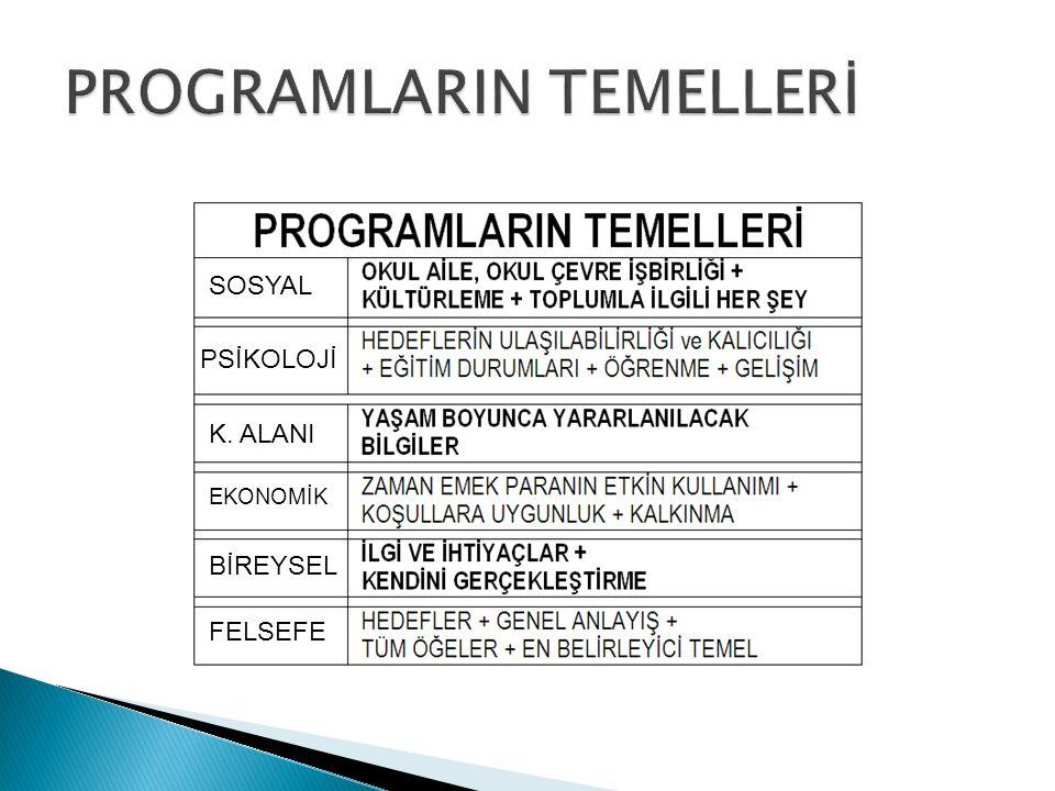 SOSYAL PSİKOLOJİ K. ALANI EKONOMİK BİREYSEL FELSEFE