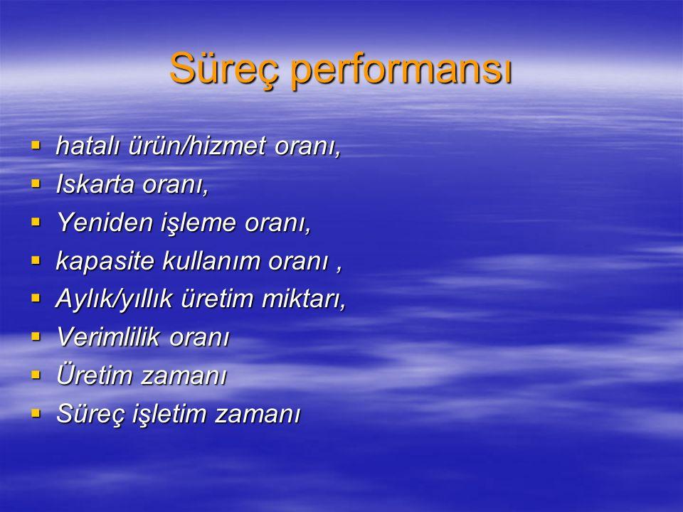 Süreç performansı Madu, 1998