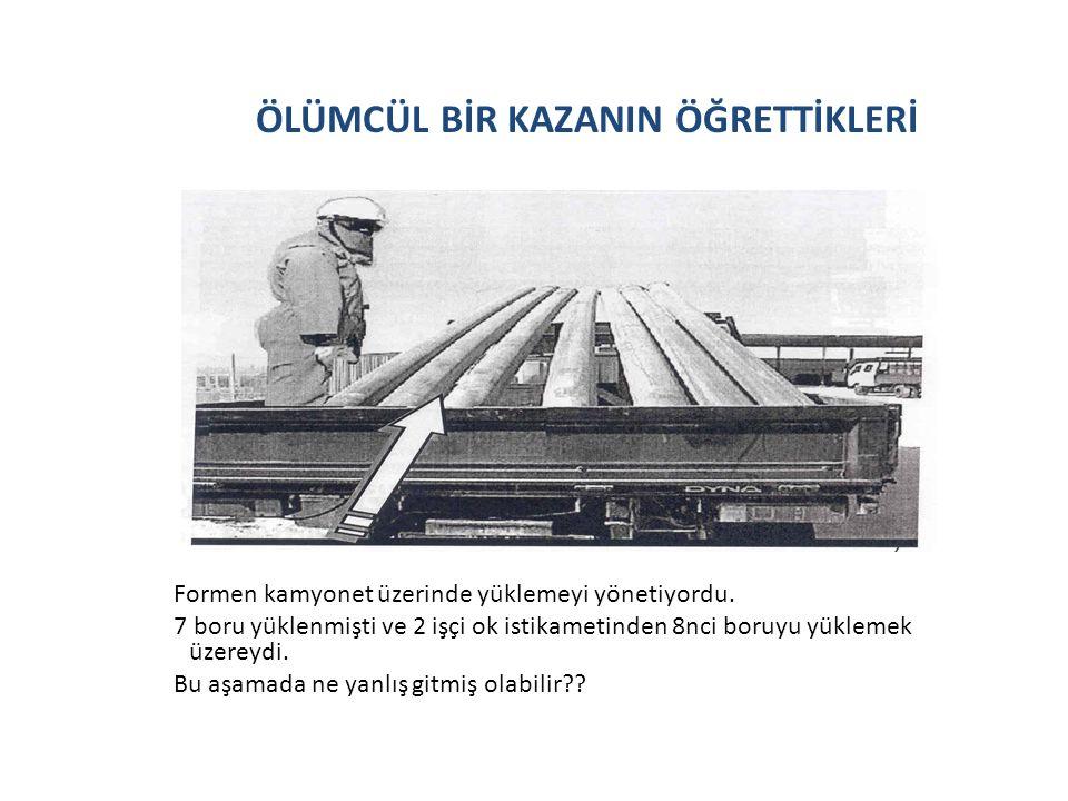 ÖLÜMCÜL BİR KAZANIN ÖĞRETTİKLERİ Formen kamyonet üzerinde yüklemeyi yönetiyordu.