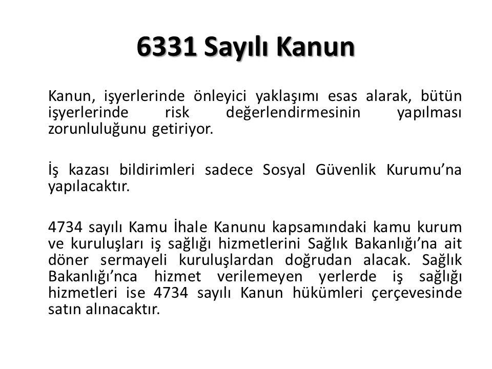 6331 Sayılı Kanun Kanun, işyerlerinde önleyici yaklaşımı esas alarak, bütün işyerlerinde risk değerlendirmesinin yapılması zorunluluğunu getiriyor.
