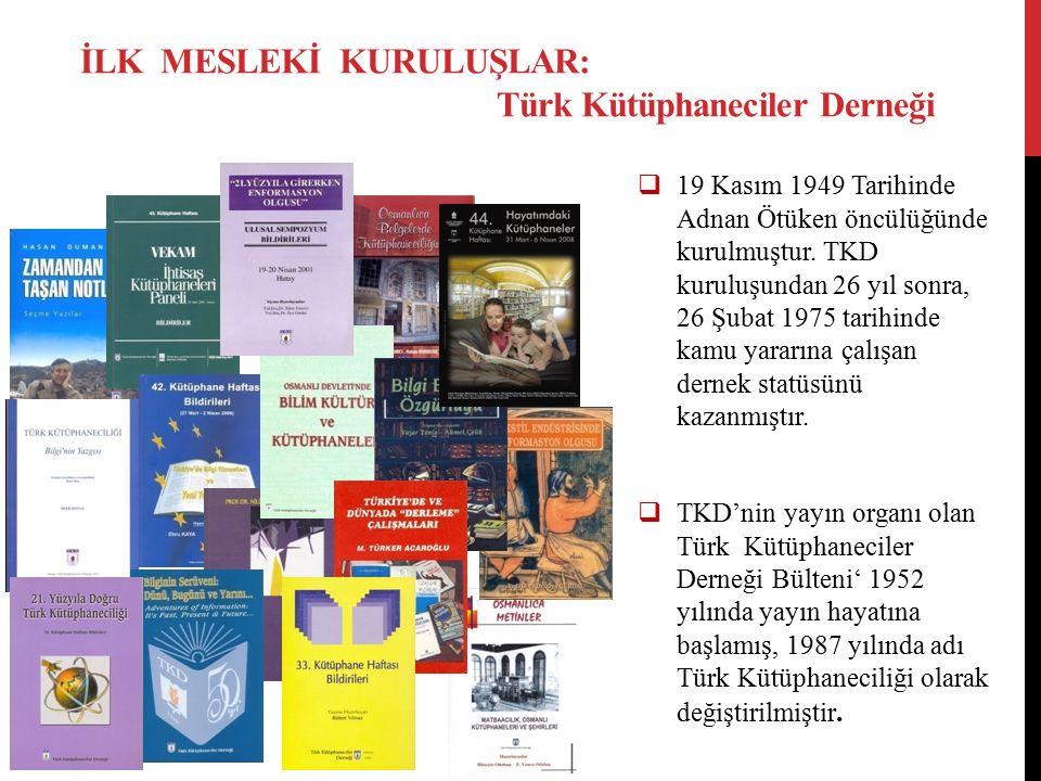  19 Kasım 1949 Tarihinde Adnan Ötüken öncülüğünde kurulmuştur. TKD kuruluşundan 26 yıl sonra, 26 Şubat 1975 tarihinde kamu yararına çalışan dernek st