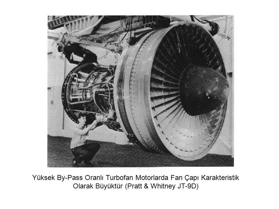 Yüksek By-Pass Oranlı Turbofan Motorlarda Fan Çapı Karakteristik Olarak Büyüktür (Pratt & Whitney JT-9D)
