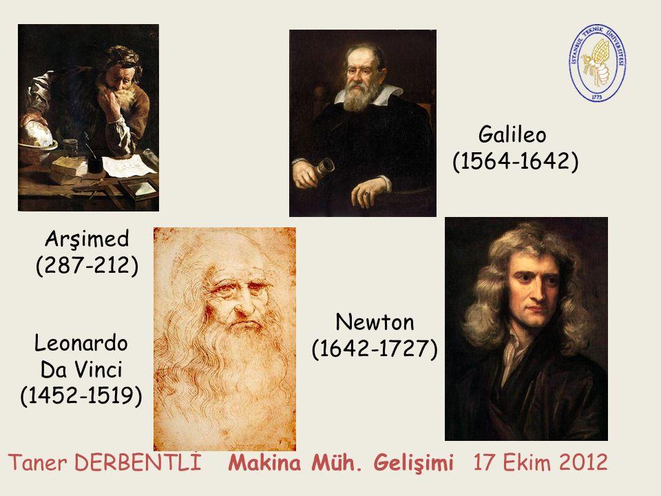 Arşimed (287-212) Galileo (1564-1642) Leonardo Da Vinci (1452-1519) Newton (1642-1727)