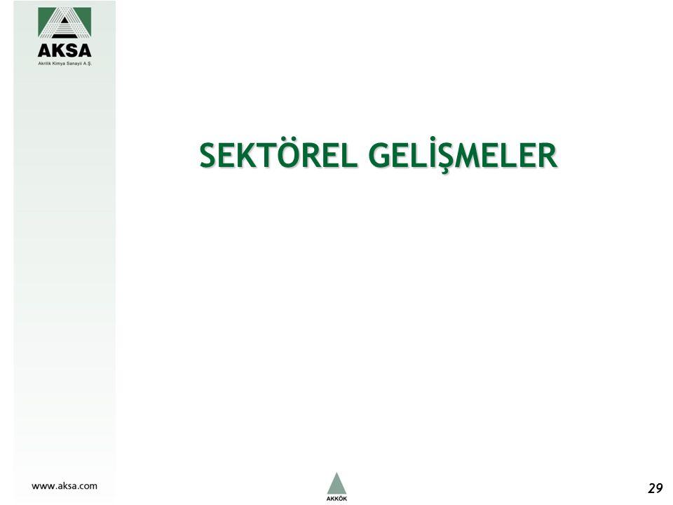 SEKTÖREL GELİŞMELER 29