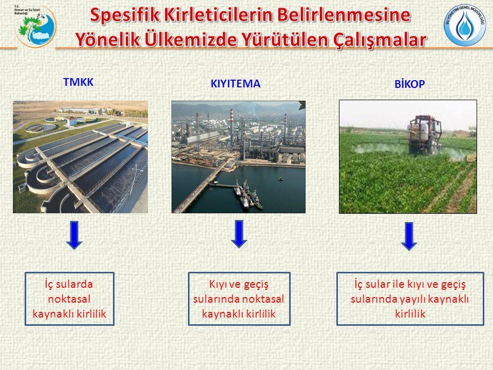 BİKOP İç sularda noktasal kaynaklı kirlilik TMKK KIYITEMA Kıyı ve geçiş sularında noktasal kaynaklı kirlilik İç sular ile kıyı ve geçiş sularında yayı